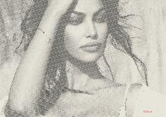 Madalina Ghenea typography portrait