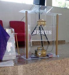 Tudo Para Igrejas - Peças em acrílico para adornar e Decorar a casa do pai! - Pulpito Assembleia de Deus - Pulpito AD - Assembleia