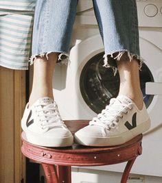 0f2583ad2cb9 Wata canvas white black. Veja sneakers outfitVegan ...