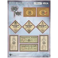 étiquettes et labels pour mettre sur des potions magiques, issues du Film Harry Potter, polyjuice, polynectar