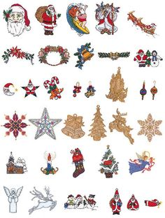 Brother Memory Card No. 28 - Christmas.   35 designs