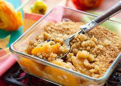 Recipe! The Neely's Peach and Almond Crisp