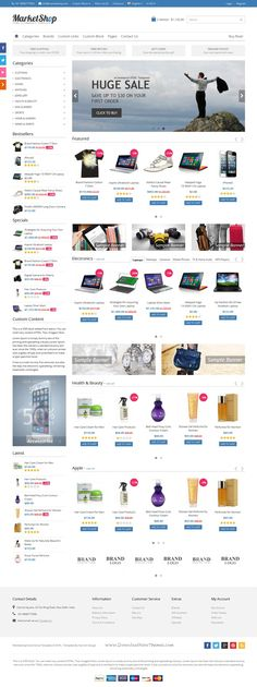 MarketShop is best Bootstrap template for #multipurpose #eCommerce #website with 4 stunning homepage layouts and great features. Download Now!