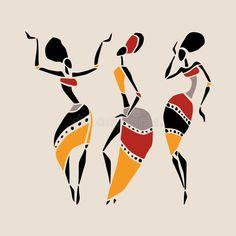 Ensemble Africain De Silhouette De Danseurs Illustration de Vecteur - Illustration du festival, beauté: 57196399