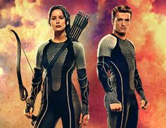 "The first in a series of Victor Banners from ""The Hunger Games: Catching Fire"" has been released, featuring Katniss (Jennifer Lawrence) and Peeta (Josh Hutcherson) ready to battle."