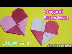Origami Heart (Plaid) / 折り紙 チェックハート 折り方 - YouTube Origami Hearts, Origami Animals, Diy Crafts, Journal, Videos, Youtube, Cards, School, Paper
