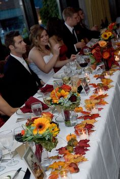 a herbstdeko Amanda & Scott's Fabulous Fall Wedding Wedding Flower Guide: Why Wedding Flowers Are Im Fall Wedding Centerpieces, Fall Wedding Flowers, Wedding Bouquets, Fall Flowers, Autumn Wedding Decorations, Wedding Dresses, Wedding Colors, Fall Bouquets, Rustic Wedding
