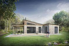 Hermosa casa de campo con piedra y madera