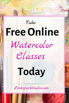 The best online watercolor classes you can take at home. Watercolor Classes, Watercolor Journal, Watercolor Tips, Watercolour Tutorials, Watercolor Techniques, Watercolour Painting, Watercolor Flowers, Watercolor Portraits, Watercolor Landscape