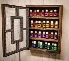 Rustic Cabinet {Single} Storage Shelf-Essential Oils, Young Living, Doterra, Nail Polish, Make Makeup Storage, Diy Storage, Makeup Organization, Storage Shelves, Storage Rack, Wood Shelves, Kitchen Storage, Essential Oils For Colds, Essential Oil Storage
