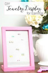 Fun easy diy projects easiest projects ever easy jewelry display earrings easy crafts and fun easy . Diy Craft Projects, Fun Diy Crafts, Diy And Crafts Sewing, Summer Crafts, Teen Crafts, Paper Crafts, Craft Ideas, Diy Natural Jewelry Cleaner, Diy Earrings Easy