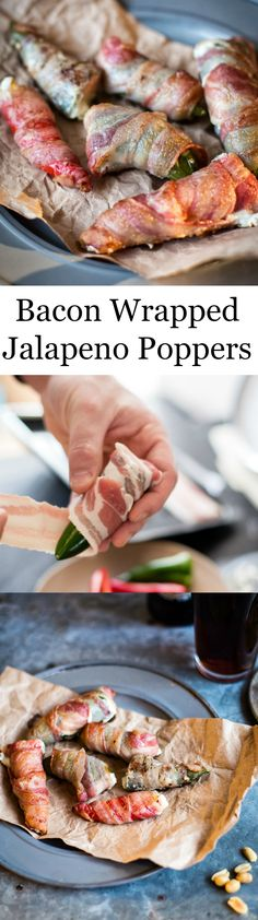 These Jalapeno Poppers are a delicious update on the old favourite! Best Chicken Recipes, Top Recipes, Cooking Recipes, Appetizers For Party, Appetizer Recipes, Bacon Wrapped Jalapeno Poppers, Healthy Vegan Snacks, Buffet, Food Dishes