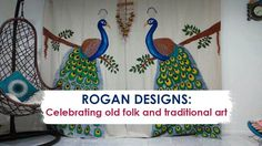 Rogan designs: Celebrating old folk and traditional art. Contact: Vaibhavi Gandhi – 9924107418, 9637358690  Nishant Gandhi – 9723143496, 9637358698 #Art #Design #RoganDesigns #HandPaints #Textiles #CityShorSurat