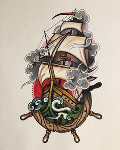 Trendy Tattoo Traditional Old School Ink Tatoo Ideas Kunst Tattoos, Body Art Tattoos, Finger Tattoos, Ship Tattoos, Dragon Tattoos, Arrow Tattoos, Hand Tattoos, Dessin Old School, Old School Ink