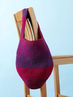 Free Knitting Pattern - Bags, Purses & Totes: All-About-Town Tote