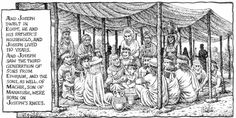 Robert Crumb - The story of Joseph & his brothers - Joseph and his family remain in Egypt (Genesis 50:22-23)
