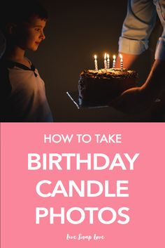 Learn how to take better images of your child blowing out the cake in this step by step tutorial ...♥♥...  on how to take birthday candle photos! Click through the read the tips.
