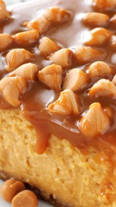 Loaded Butterscotch Cheesecake ~ so amazingly full of butterscotch... To die for!
