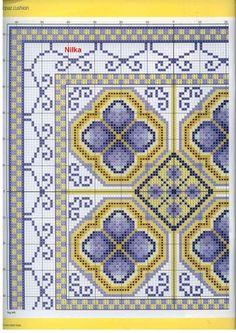 Cross-stitch Blue Topaz, part color chart on part Gallery. Cross Stitch Borders, Cross Stitch Designs, Cross Stitching, Cross Stitch Patterns, Diy Embroidery, Cross Stitch Embroidery, Embroidery Patterns, Crochet Patterns, Cross Stitch Cushion