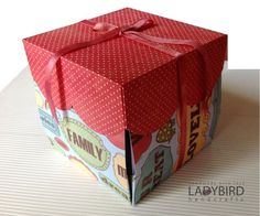 "Our personal favourites are the, ""Explosion Boxes"". Each Box Album is a lovely 3-d papercraft gift or way for you to display some special photos in an unusual way or put in thoughts,poems for a friend,mother,husband....   This type of container is one with a surprise!"