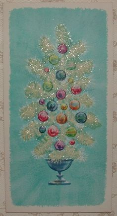 "1950's GIBSON ""CHRISTMAS STAR-LITES"" Christmas greeting card"