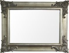 Silver Framed Mirrors: Antique Silver Ornate Mirror 1200x900mm