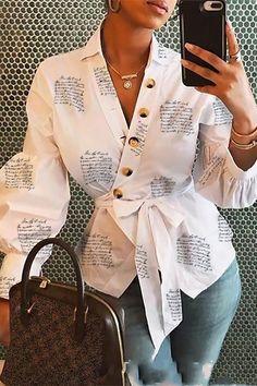 Trend Fashion, Fashion Prints, Fashion Outfits, Fashion Women, Style Fashion, Fashion Blouses, Formal Fashion, Fashion Today, Cheap Fashion