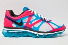 half off badc1 4fef4 Nike Air Max+ 2012 - Pink Blue Just last week we took a first look at the  Nike Air Max+ 2012 version in a red neon colorway. Marybeth Whatford · Shoes