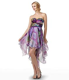 Love the colors - the style...well, maybe if I had the body!  I do like handkerchief hems though, and the floatiness of the skirt.
