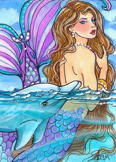 MY GUARDIAN  4x6  dolphin mermaid