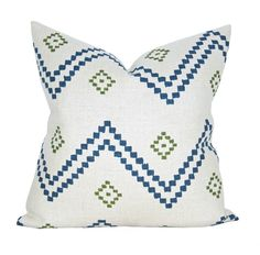 Taj pillow cover in Indigo/Green - ON BOTH SIDES by sparkmodern on Etsy https://www.etsy.com/listing/519364640/taj-pillow-cover-in-indigogreen-on-both