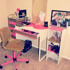 leopard makeup room♥