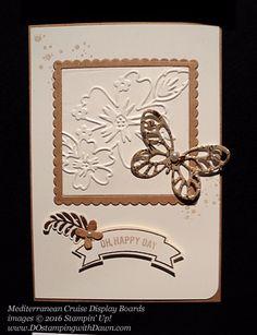 Floral Affection Mediterranean Cruise Display Cards shared by Dawn Olchefske #dostamping #stampinup