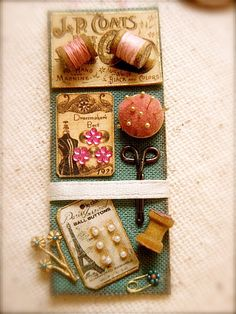 Dollhouse miniature vintage style french by EarthenVesselMLacy