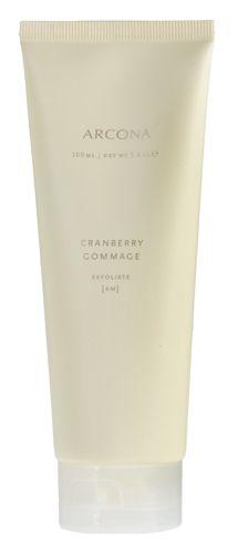 skincare, skincare, skincare. ARCONA Cranberry Gommage 3.4 oz.  Exfoliate and brighten - this product smells amazing!  #skincare $42