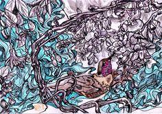 Hummingbird   #Watercolors #Ink