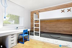 Spacelab architects rebuilds a one-storey villa of the located in Puszczykowo, Poland and completely reshape it to modern and convenient family home. Modern, Contemporary, Kids Room Design, Teen Bedroom, Kid Spaces, Game Room, Home And Family, House Design, Interior Design
