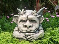 Creative garden statues and unusual garden ornaments can really change a landscape. Fantasy Creatures, Mythical Creatures, Alien Creatures, Mythological Creatures, Unusual Garden Ornaments, Troll, Dragons, Garden Statues, Garden Sculpture