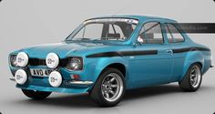 Escort Bigwing in Blue, with Black Mexico stripes - Erica Lucas (Car & Car) Classic Cars British, Ford Classic Cars, Escort Mk1, Ford Escort, Fast Sports Cars, Sport Cars, Shelby Gt350r, Ford Rs, Buick Roadmaster