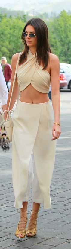Kendall Jenner in Wrap-Front Pants #WITCHERYSTYLE