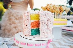 Surprise inside! #wedding #cake