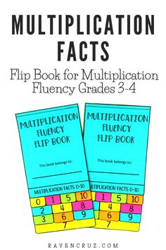 Get my #1 best-selling multiplication facts flip book! This flip book allows students to say the multiplication fact then write the fact. You could even ask your students to write the fact using the commutative property of multiplication. #mathwithraven Properties Of Multiplication, Multiplication Strategies, Teaching Multiplication, Math Notebooks, Interactive Notebooks, Math Worksheets, Math Resources, Fluency Activities, Common Core Math Standards