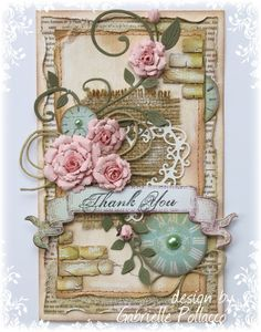 Thank You Card **Cheery Lynn & Bo Bunny 'The Avenues' collection ** - Scrapbook.com