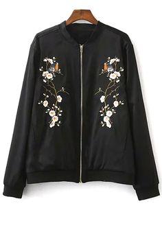 Embroidered Baseball Jacket $22.49