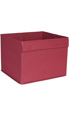 Household Essentials Basic Open Storage Bin with Fabric Handle, Burgundy Red Best Price