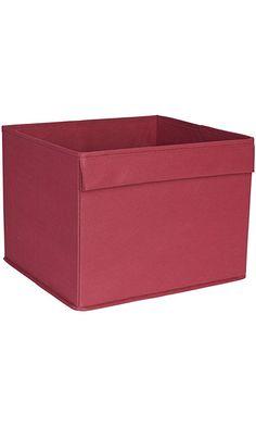 Household Essentials Basic Open Storage Bin with Fabric Handle, Burgundy Red Best Price