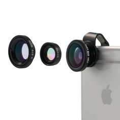 1.Vinsic® Camera Lens. Well-made detachable 180° Fish-Eye Lens+Wide Angle Lens+Micro Lens 3-in-1 easy-use camera lens. 2.High Clarity and Durable: The lens is made of upgraded high-class glass and top-grade aluminum. 3.The Macro Lens and the Wide Angle Lens are screwed together. Easy to separate them for different using. 4.Detachable lens kit with magnet, easy to ...