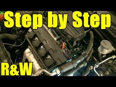 Honda Civic 1.7L SOHC Timing Belt, Tensioner, Water Pump Replacement Part 1 - YouTube