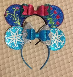 Add some sparkle to your Disneybound with Anna and Elsa Mouse Ears