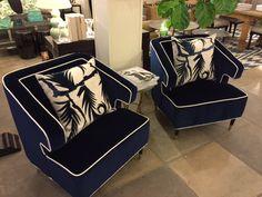 Navy #arm #chairs at #Chicago #Mecox #interiordesign #MecoxGardens #furniture #shopping #home #decor #design #room #designidea #vintage #antiques #garden